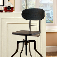 Furniture of America FOA-CM-BR6233DK Leith Industrial Swivel Bar Stool, Dark Brown