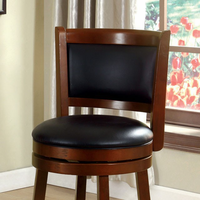 "Furniture of America FOA-CM-BR6243-24 Letcher Transitional 24"" Swivel Bar Stool, Dark Cherry"