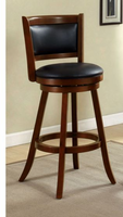"Furniture of America FOA-CM-BR6243-29 Letcher Transitional 29"" Swivel Bar Stool, Dark Cherry"