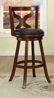 "Furniture of America FOA-CM-BR6244-29 Baltic Transitional 29"" Swivel Bar Stool, Dark Cherry"