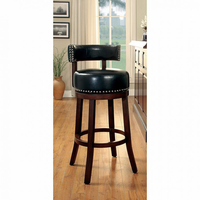 "Furniture of America FOA-CM-BR6251BK-24-2PK Shirley Contemporary 24"" Bar Stool, Black (2/ctn)"