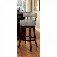 "Furniture of America FOA-CM-BR6251GY-24-2PK Shirley Contemporary 24"" Bar Stool, Gray (2/ctn)"