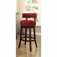 "Furniture of America FOA-CM-BR6251RD-24-2PK Shirley Contemporary 24"" Bar Stool, Red (2/ctn)"