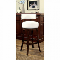 "Furniture of America FOA-CM-BR6251WH-24-2PK Shirley Contemporary 24"" Bar Stool, White (2/ctn)"