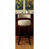"Furniture of America FOA-CM-BR6252BG-29-2PK Lynsey Contemporary 29"" Bar Stool, Beige Fabric (2/ctn)"