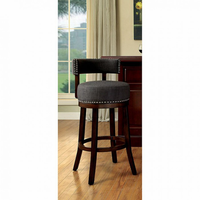 "Furniture of America FOA-CM-BR6252GY-24-2PK Lynsey Contemporary 24"" Bar Stool, Gray Fabric (2/ctn)"