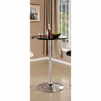 Furniture of America FOA-CM-BT6150BK Nessa Contemporary Bar Table, Black