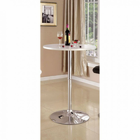 Furniture of America FOA-CM-BT6150WH Nessa Contemporary Bar Table, White