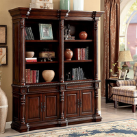 Furniture of America FOA-CM-DK6252SL-PK Roosevelt Traditional Large Book Shelf