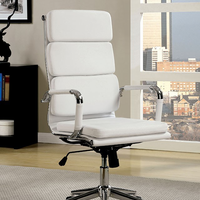 Furniture of America FOA-CM-FC636L-WH Mercedes Contemporary Office Chair, White