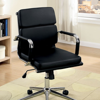 Furniture of America FOA-CM-FC636S-BK Mercedes Contemporary Office Chair, Black