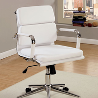 Furniture of America FOA-CM-FC636S-WH Mercedes Contemporary Office Chair, White