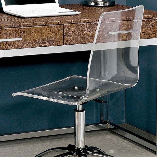 acrylic office chairs swivel furniture of america foacmfc6403a tilly contemporary acrylic office chair