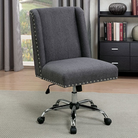 Furniture of America FOA-CM-FC642GY Lisette Contemporary Office Chair, Gray