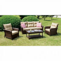 Furniture of America FOA-CM-OS1831 Jocelyn Contemporary 4 Pc. Patio Seating Set