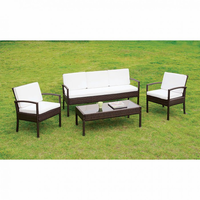Furniture of America FOA-CM-OS2119 Makenna Contemporary 4 Pc. Patio Seating Set