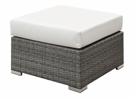 Furniture of America FOA-CM-OS2128-N Somani Contemporary Small Ottoman