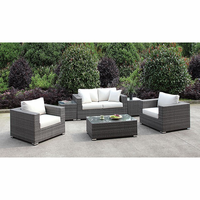 Furniture of America FOA-CM-OS2128-SET22 Somani Contemporary Love Seat+2 Chairs+2 End Tables+coffee Table