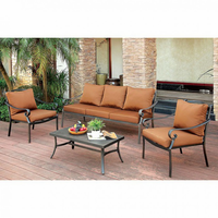 Furniture of America FOA-CM-OS2501-4PC Bonquesha I Contemporary 4 Pc. Patio Seating Set