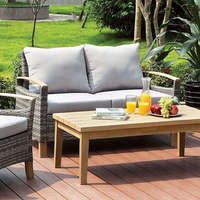 Furniture of America FOA-CM-OS2586-LV Monica Contemporary Patio Love Seat