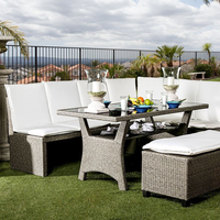 Furniture of America FOA-CM-OT2102-SET Wisheka Contemporary 3 Pc. Patio Dining Set