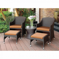 Furniture of America FOA-CM-OT2550-3PC Almada Contemporary 3 Pc. Patio Chair Set