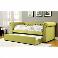 Furniture of America FOA-CM1027GR-BED Leanna Contemporary Daybed w/ Trundle, Lemongrass
