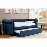 Furniture of America FOA-CM1027TL-BED Leanna Contemporary Daybed w/ Trundle, Teal