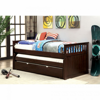 Furniture of America FOA-CM1610-PK+TR Gartel Transitional Nesting Daybed w/ Trundle