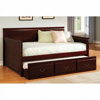 Furniture of America FOA-CM1637CH-BED Sahara Traditional Daybed w/ Twin Trundle, Espresso