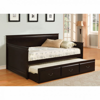 Furniture of America FOA-CM1637EX-BED Sahara Traditional Daybed w/ Twin Trundle, Espresso