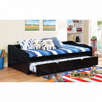 Furniture of America FOA-CM1737BK-BED Sunset Transitional Daybed w/ Trundle, Black