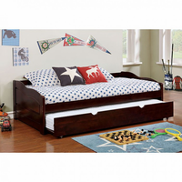 Furniture of America FOA-CM1737EX-BED Sunset Transitional Daybed w/ Trundle, Espresso