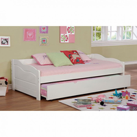 Furniture of America FOA-CM1737WH-BED Sunset Transitional Daybed w/ Trundle, White
