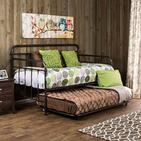 Furniture of America FOA-CM1925BR Claremont Transitional Metal Daybed, Dark Bronze (Trundle Optional)