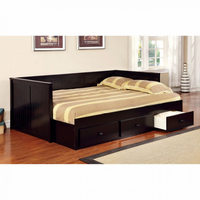Furniture of America FOA-CM1927BK-BED Wolford Cottage Full Size Daybed, Black