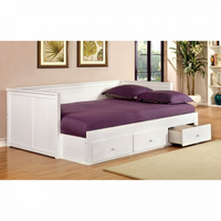 Furniture of America FOA-CM1927WH-BED Wolford Cottage Full Size Daybed, White