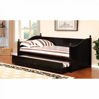 Furniture of America FOA-CM1928BK-BED Walcott Cottage Daybed w/ Twin Trundle, Black