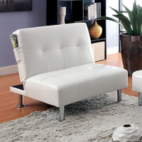 Furniture of America FOA-CM2669WH-CH Bulle Contemporary Chair w/ Side Pockets On Both Sides w/ White