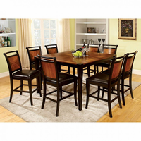 Furniture of America FOA-CM3034PT-7PC Salida Ii Transitional Counter Ht. Table + 6 Chairs