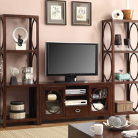 Furniture of America FOA-CM5051-TV-3PC Melville Transitional Tv Console + 2 Pier Cabinets
