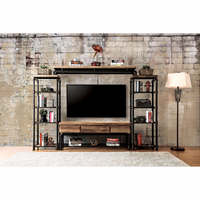 Furniture of America FOA-CM5913-TV-4PC Kebbyll Industrial 4 Pc. Set (Tv + 2 Pc + Br)
