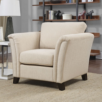Furniture of America FOA-CM6095IV-CH Campbell Contemporary Chair, Ivory