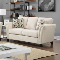 Furniture of America FOA-CM6095IV-LV Campbell Contemporary Love Seat, Ivory
