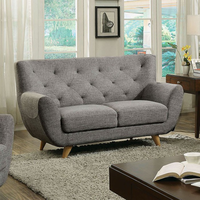Furniture of America FOA-CM6134LG-LV Love Seat, Light Gray Light Gray