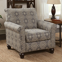 Furniture of America FOA-CM6139A Clea Transitional Accent Chair, Damask Pattern