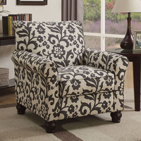 Furniture of America FOA-CM6139B Clea Transitional Accent Chair, Floral Pattern
