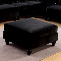 Furniture of America FOA-CM6158BK-OT Jolanda Ii Traditional Ottoman, Black