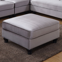 Furniture of America FOA-CM6158GY-OT Jolanda Ii Traditional Ottoman, Gray