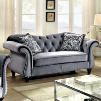 Furniture of America FOA-CM6159GY-LV Jolanda Glam Love Seat